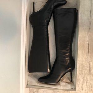 Jimmy Choo Kirby Kid Leather black boots size 39